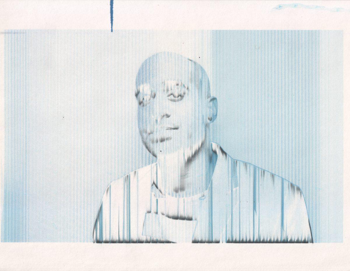 Kunal - 28x22cm - Broken inject print, inkjet, glitch, print, ch3, portrait