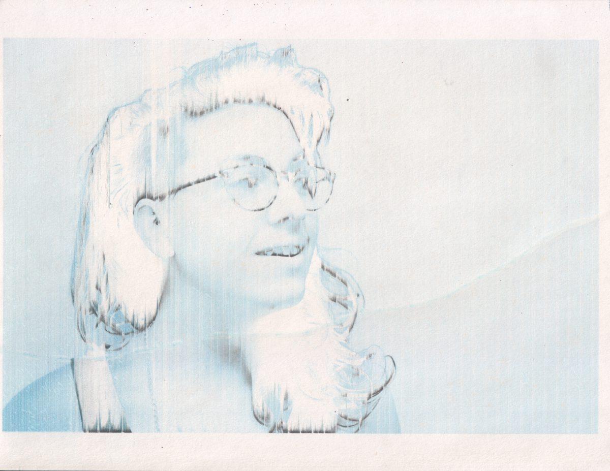 Phoebe - 28x22cm - Broken inject print, inkjet, glitch, print, ch3, portrait