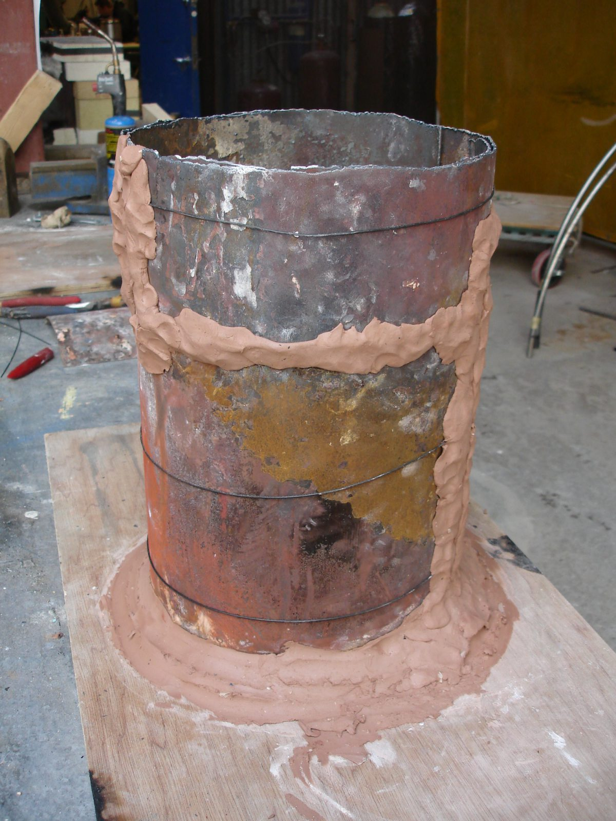 Divider - wip - Prepare the flask, ch3, sculpture, process, wax