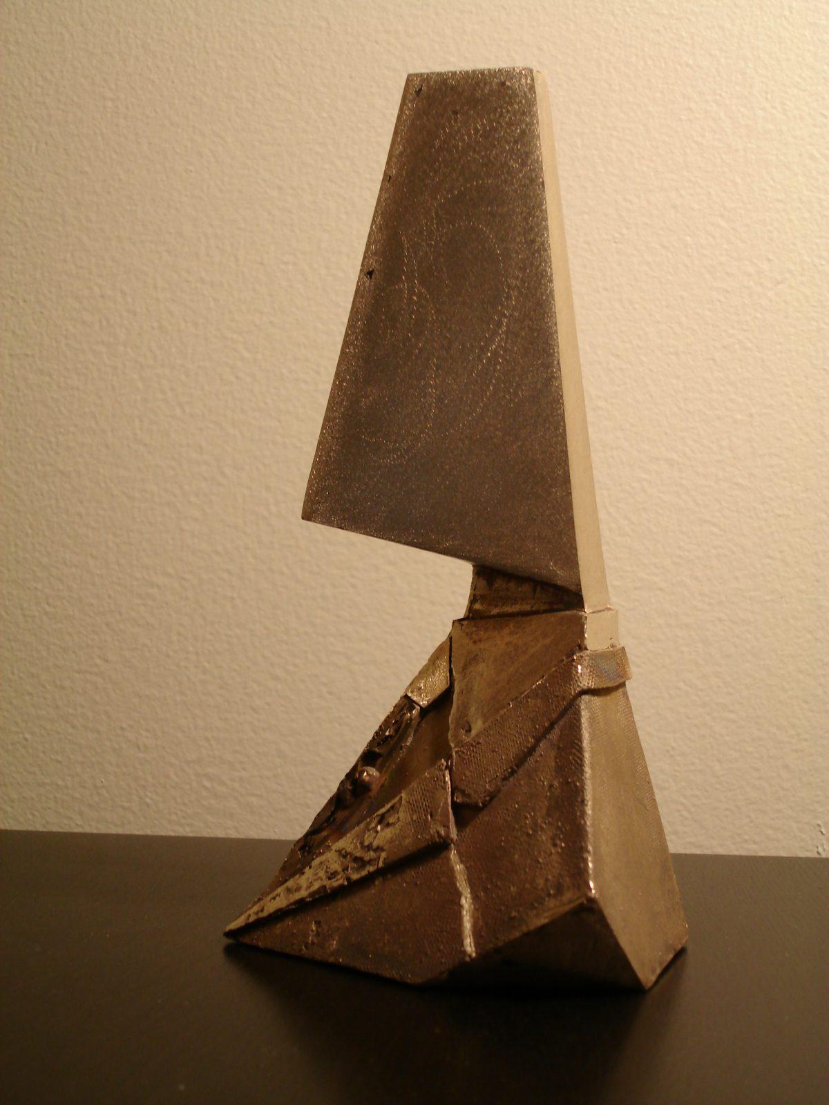 Divider - wip - Start polishing, ch3, sculpture, process, bronze