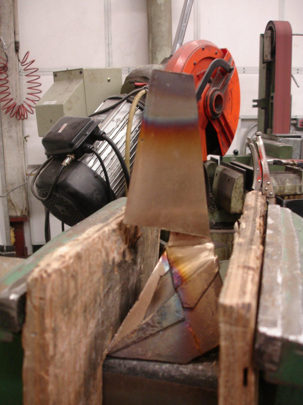 Divider - wip - Grind, ch3, sculpture, process, bronze