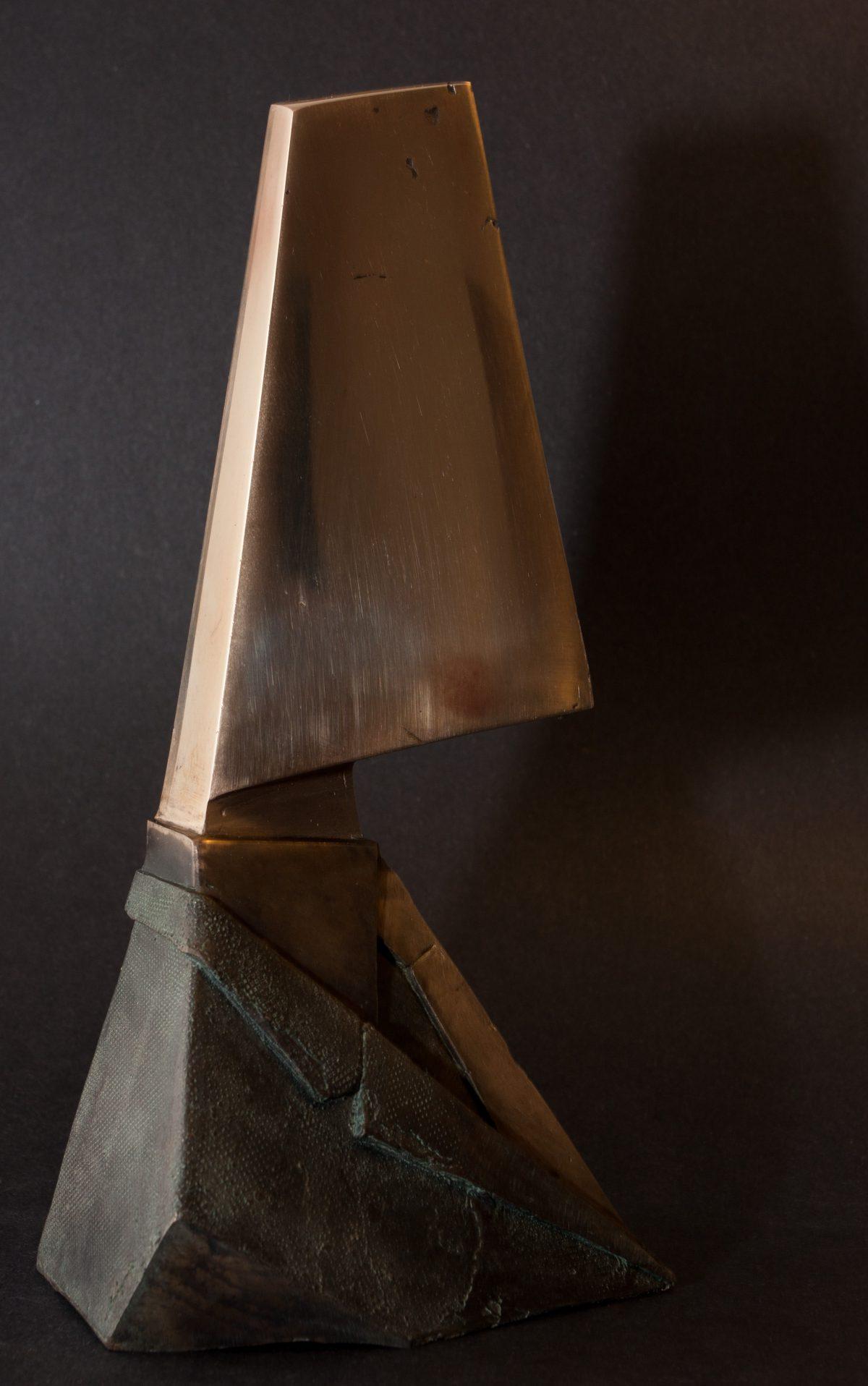 Divider - 22cm Bronze, ch3, bronze, sculpture, bust