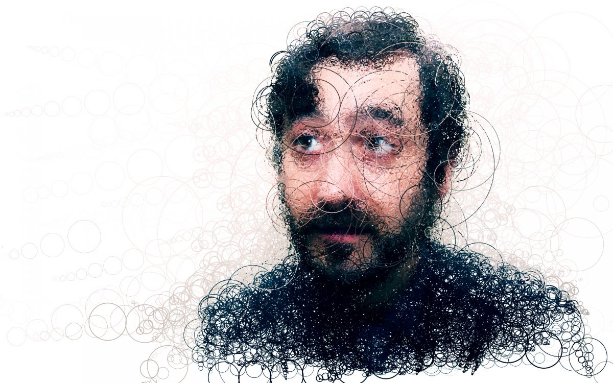 Gregory - Digitally created images based on photograph using custom made brushes in Processing., ch3, digital, portrait, processing