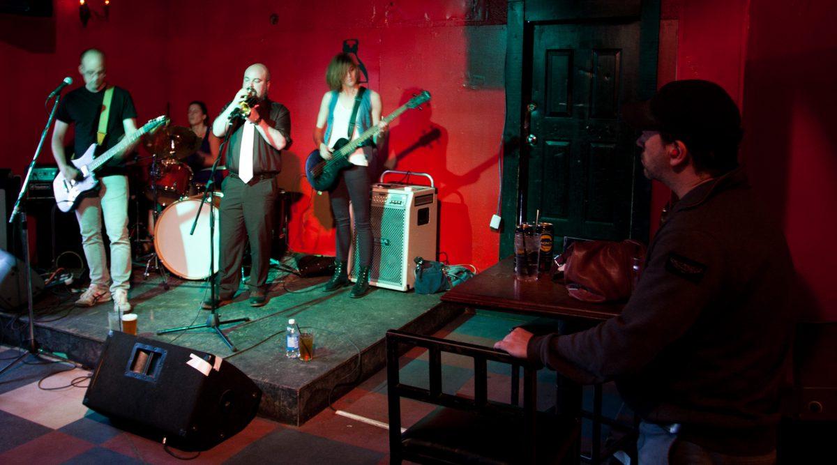 sir ma'am ma'am - at Wunderbar - Edmonton, venue, bar, guitar, drums, gig