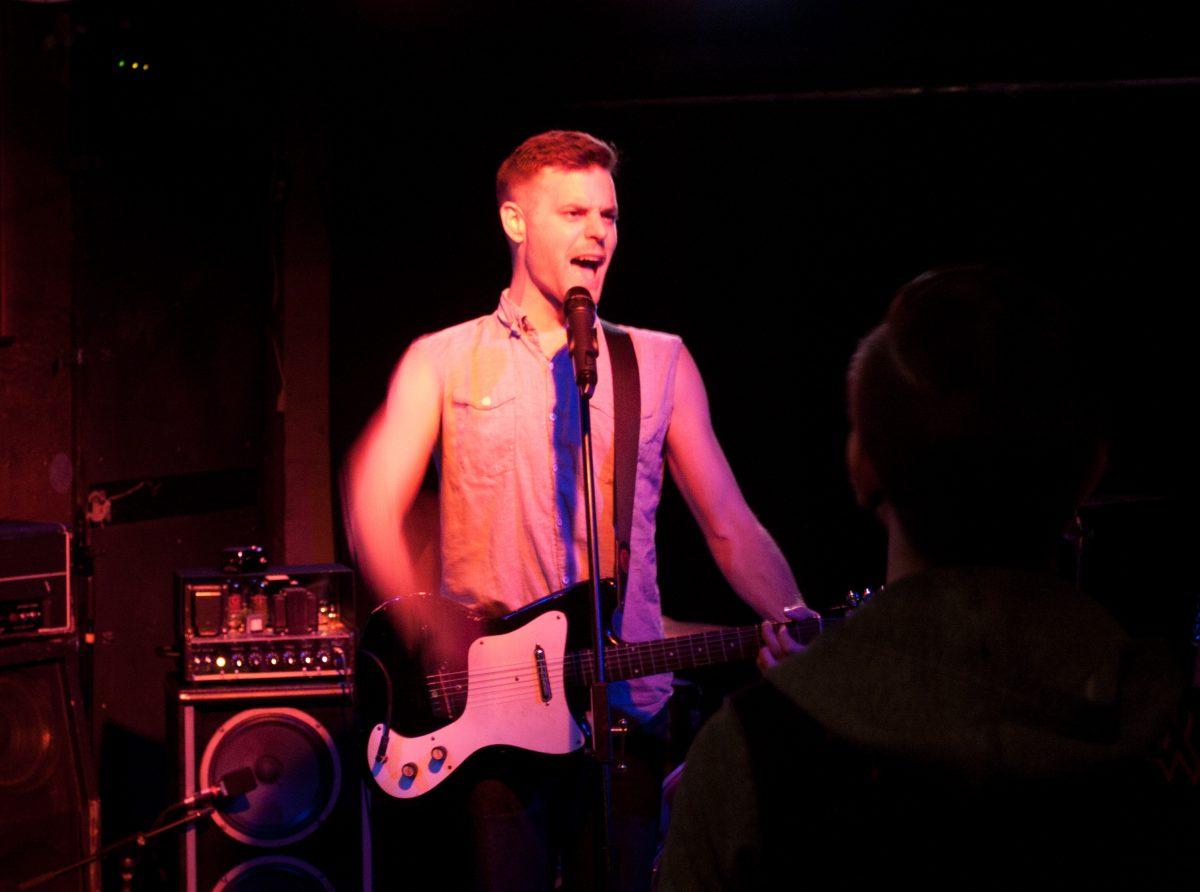 Mark Mills - at Broken City - Calgary, venue, bar, guitar, gig