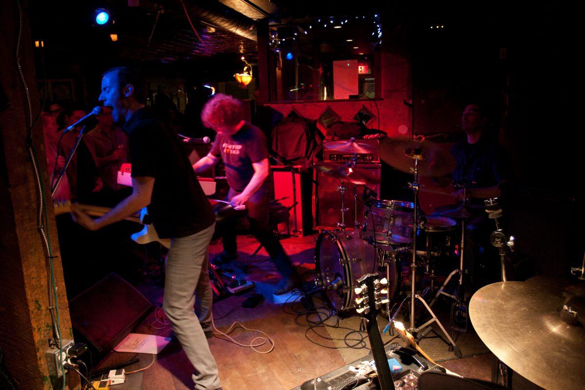 Night Commitee - at Broken City - Calgary, venue, bar, guitar, drums, gig