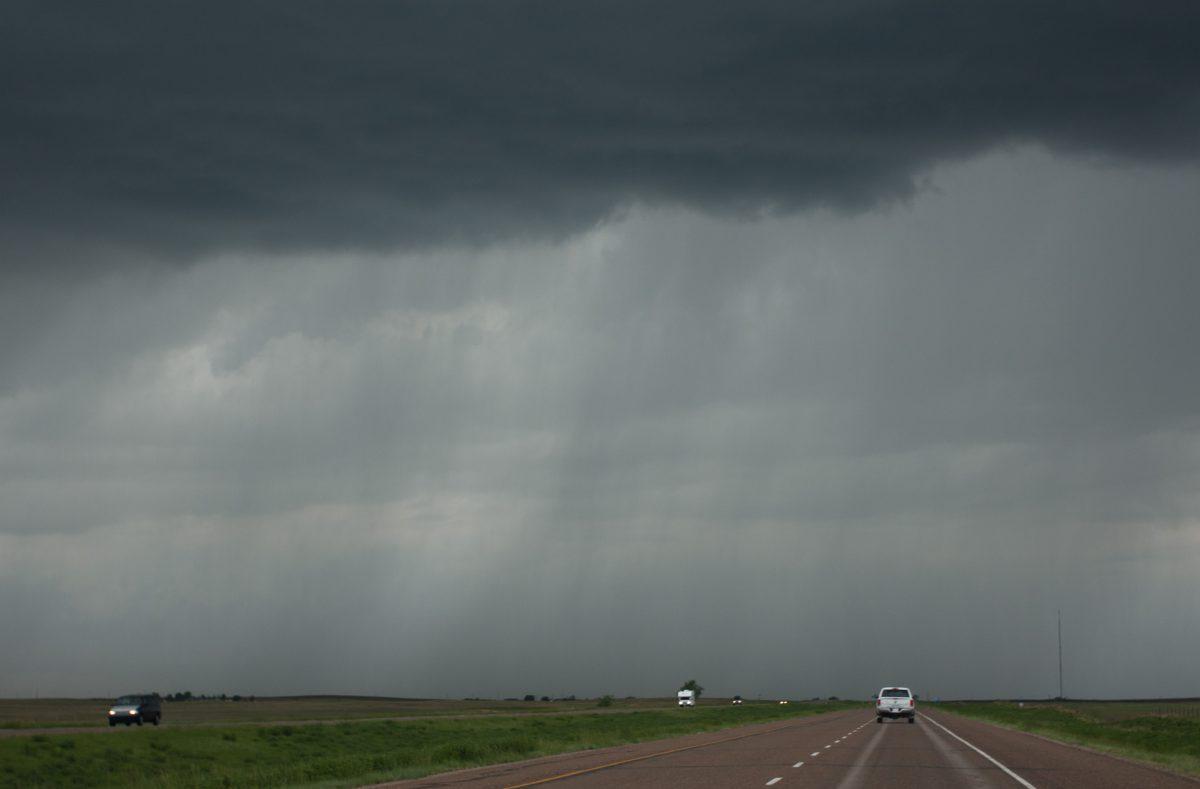 cloud, rain, road