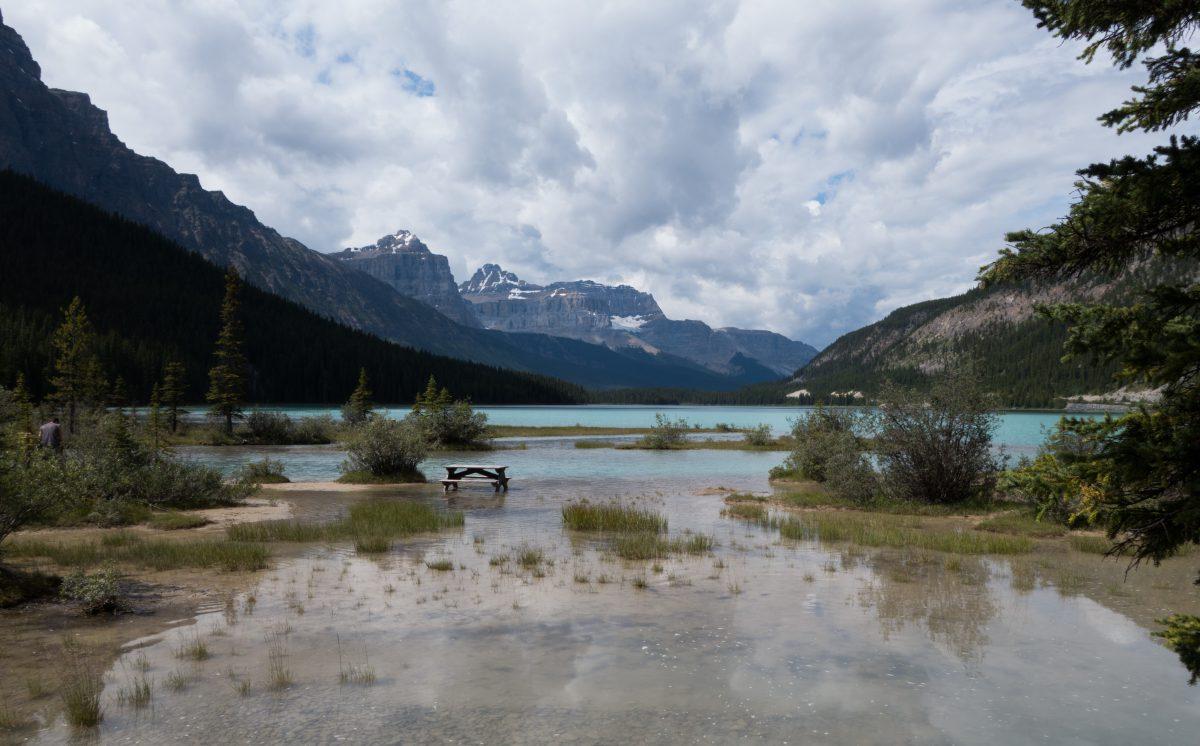 lake, mountain, cloud