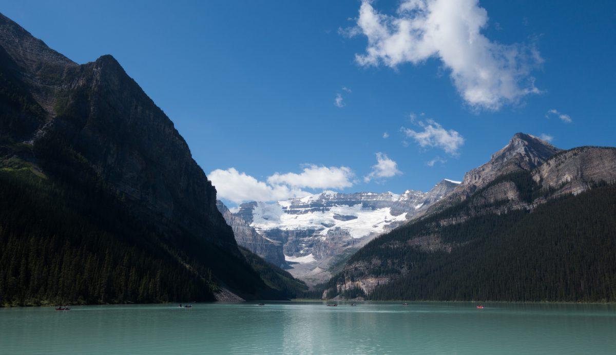 lake, mountain, view