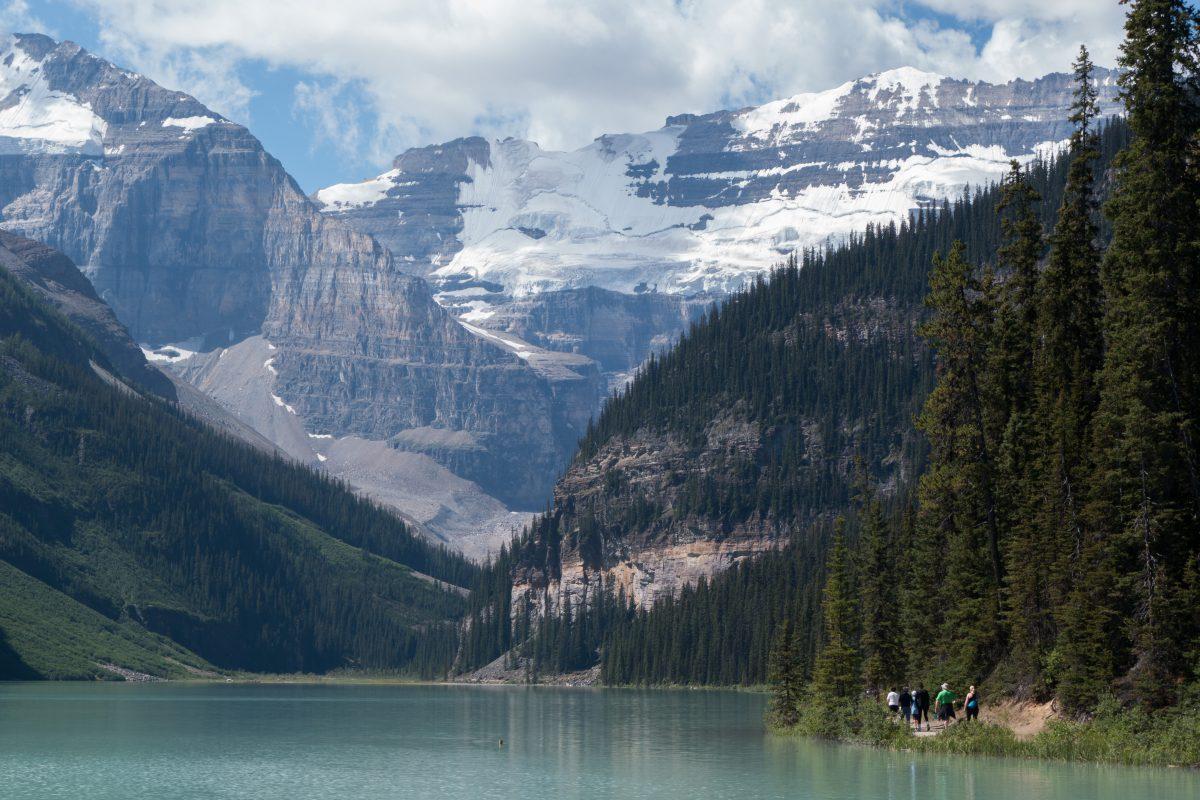 Lake Louise, lake, mountain, glasier, view, trail