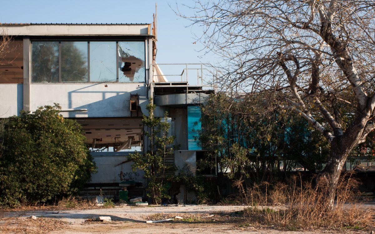 building, decay, bar, broken