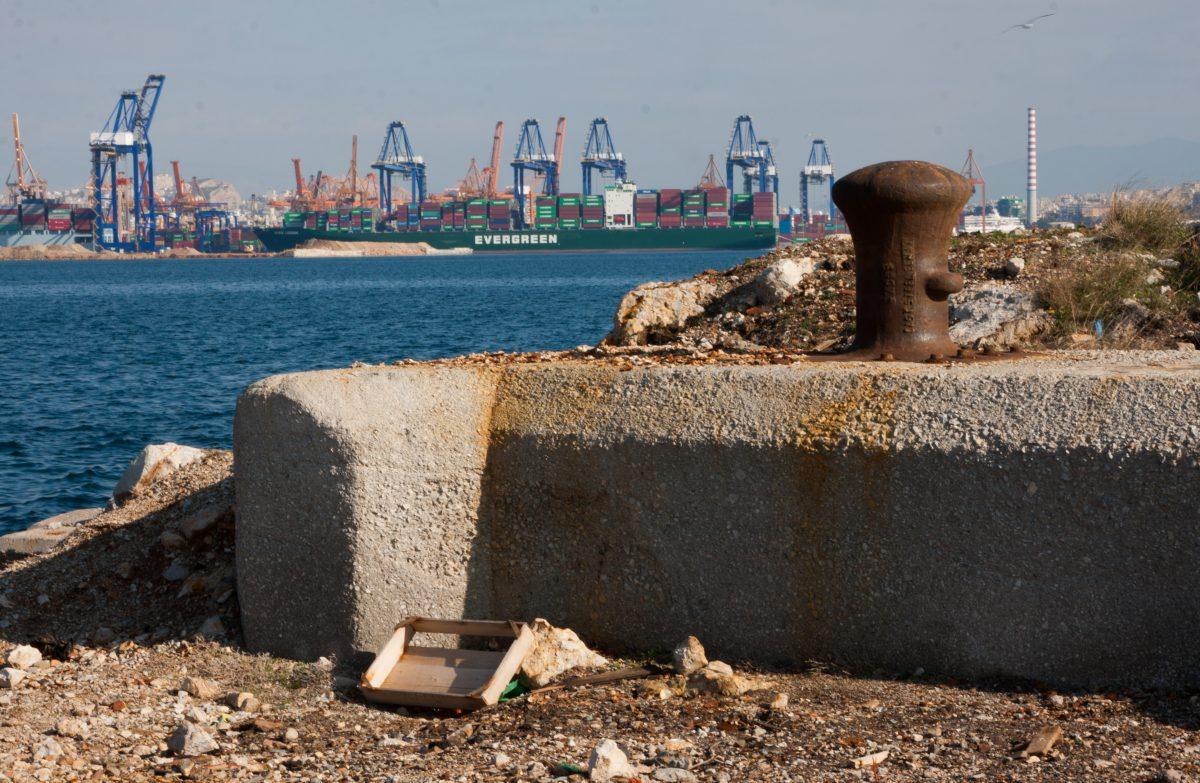 sea, port, crane, decay