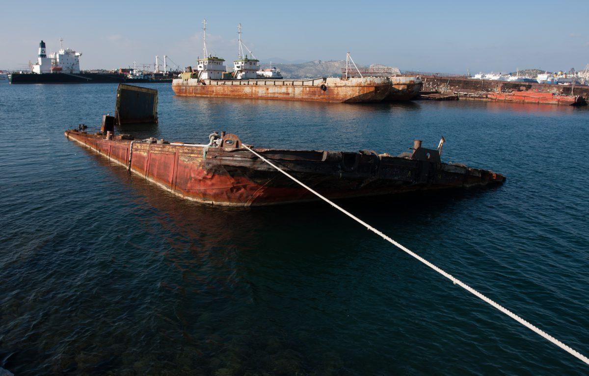 boat, sea, port, decay