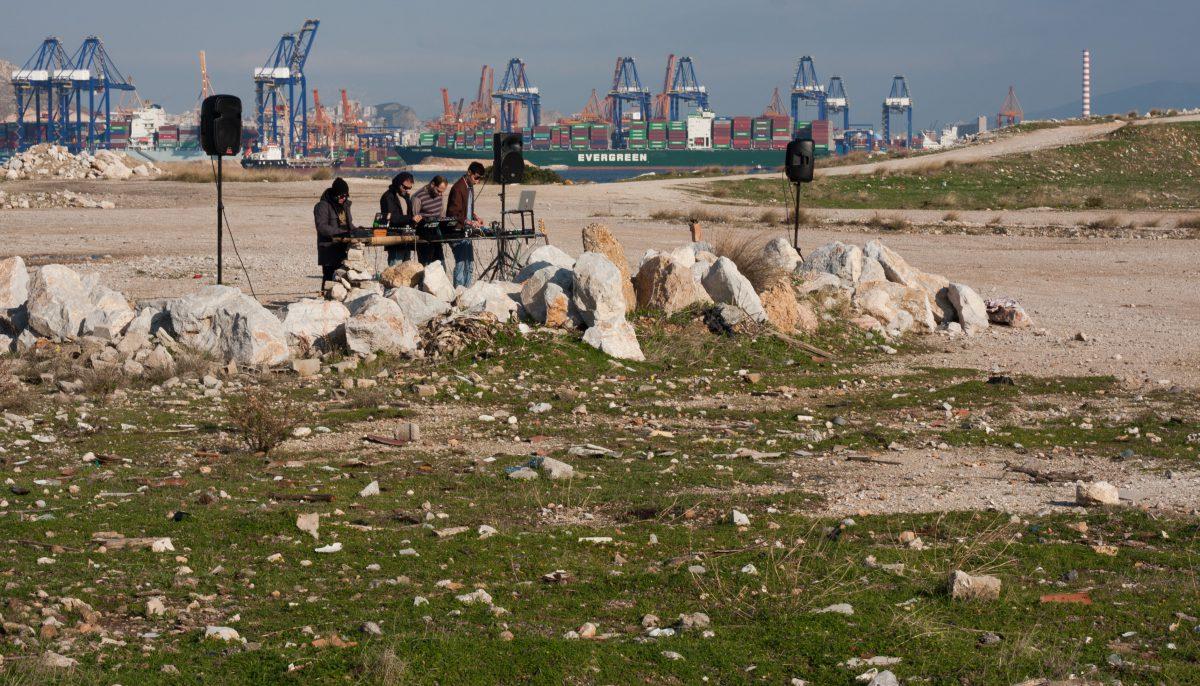 Urbanoise, port, crane, event
