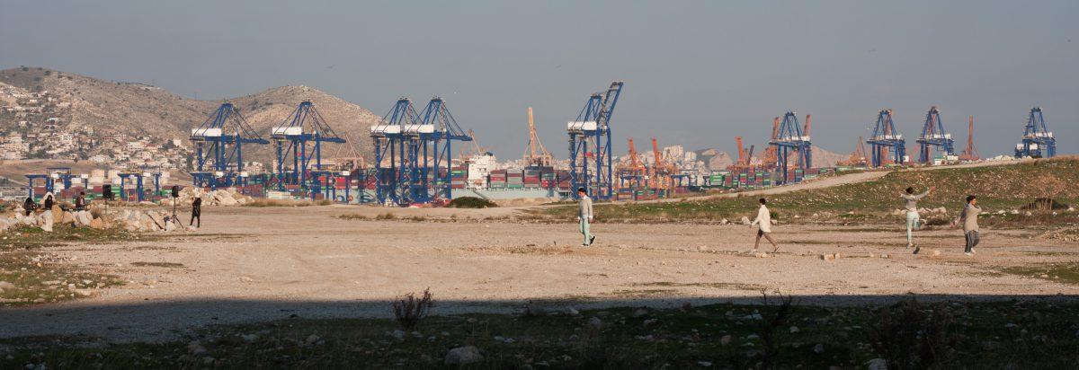 port, crane, dance, event