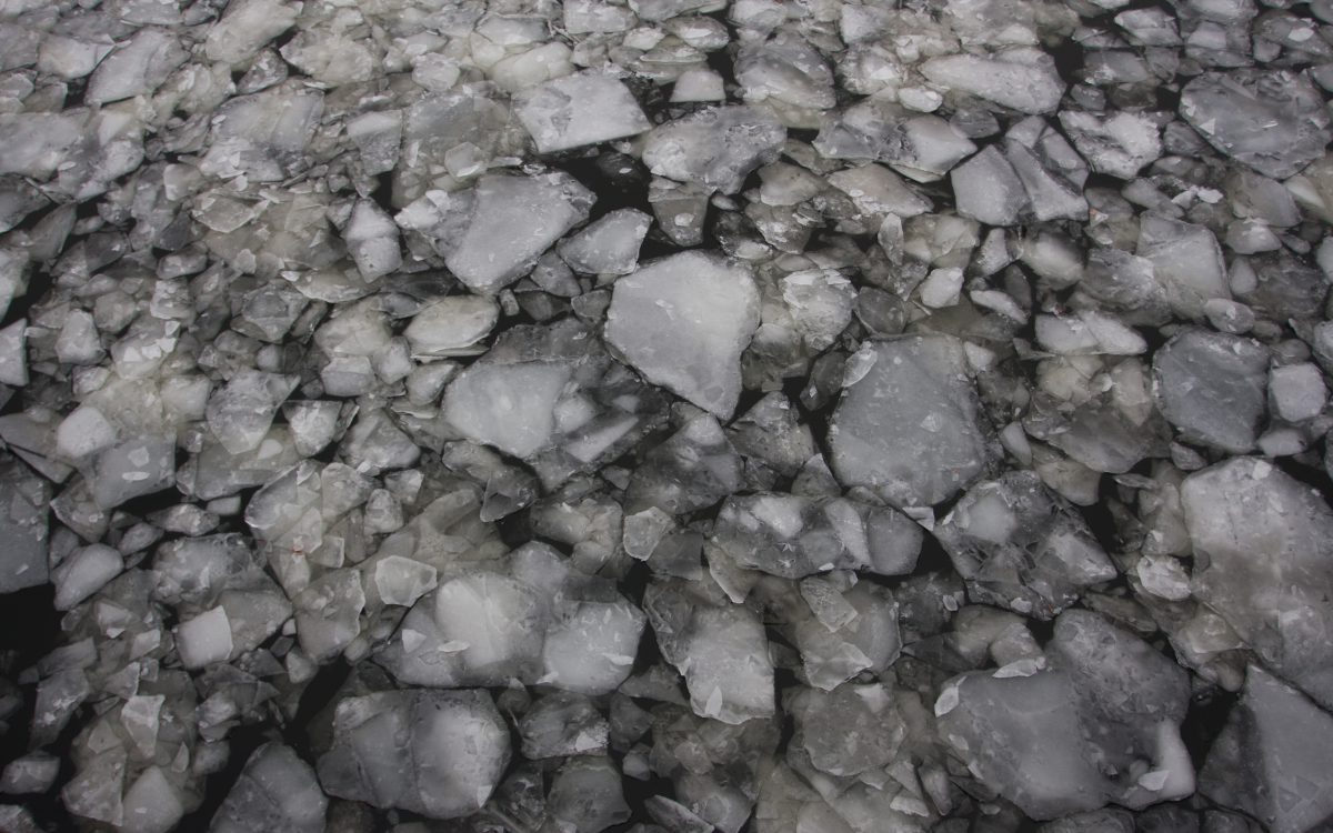 ice, river