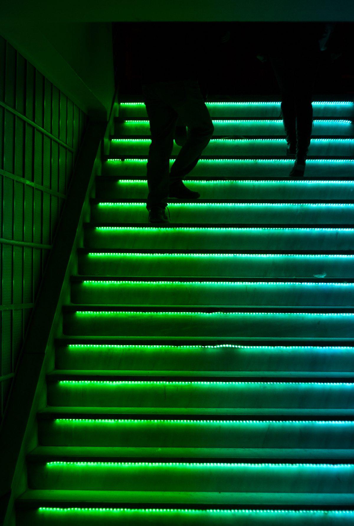 night, stair