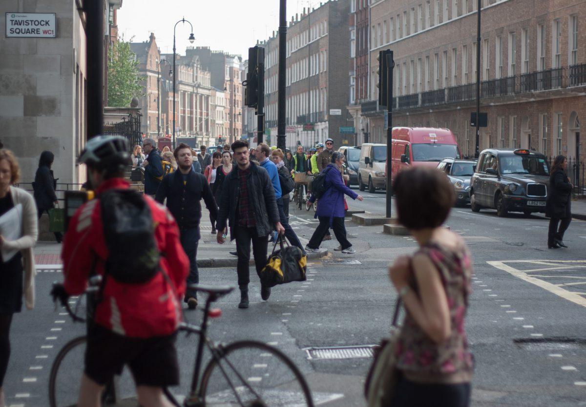 road, people, traffic, bike
