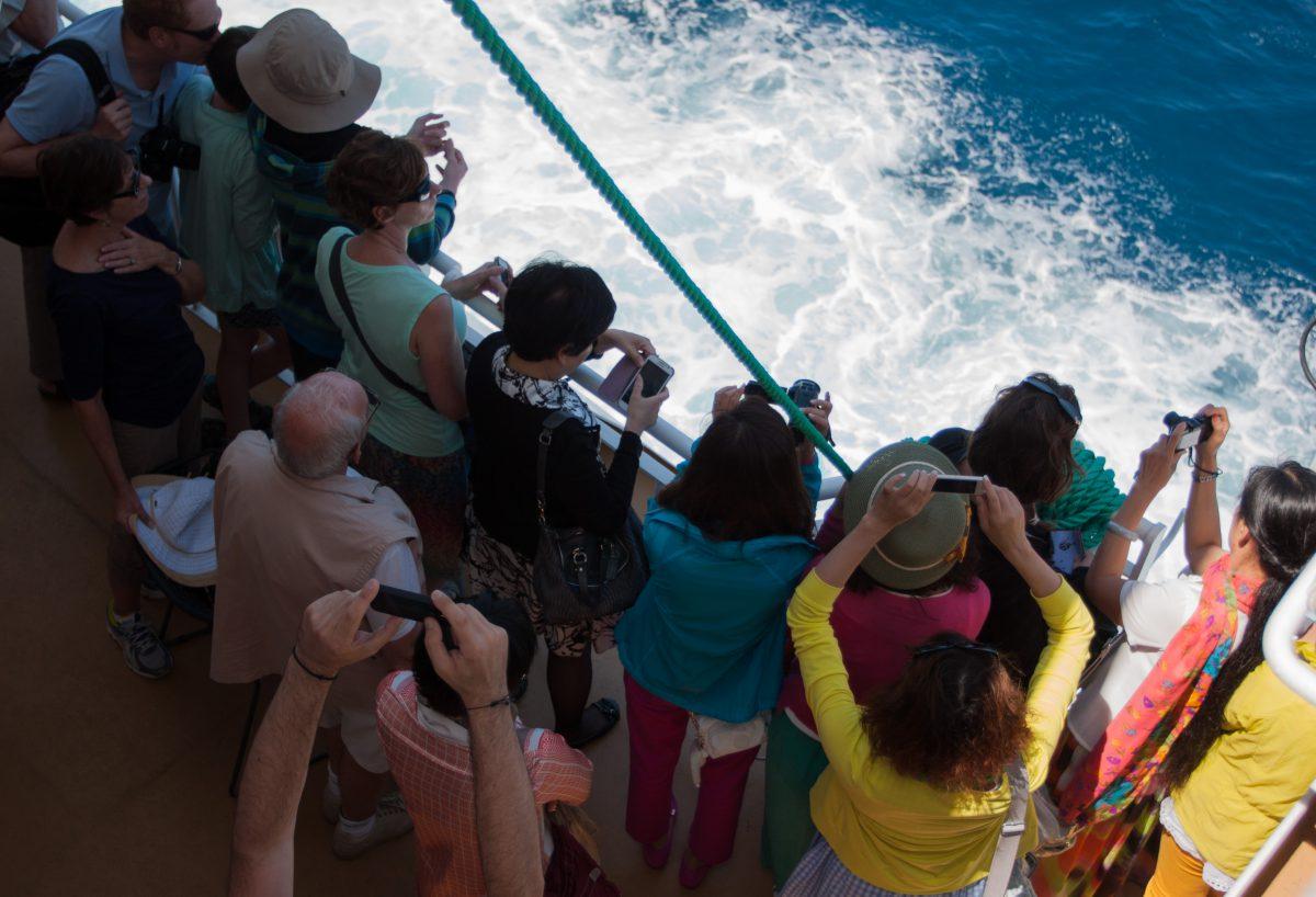 boat, sea, people