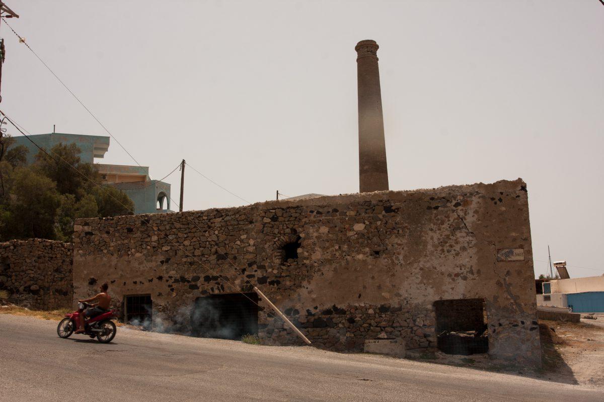 building, industrial, chimney