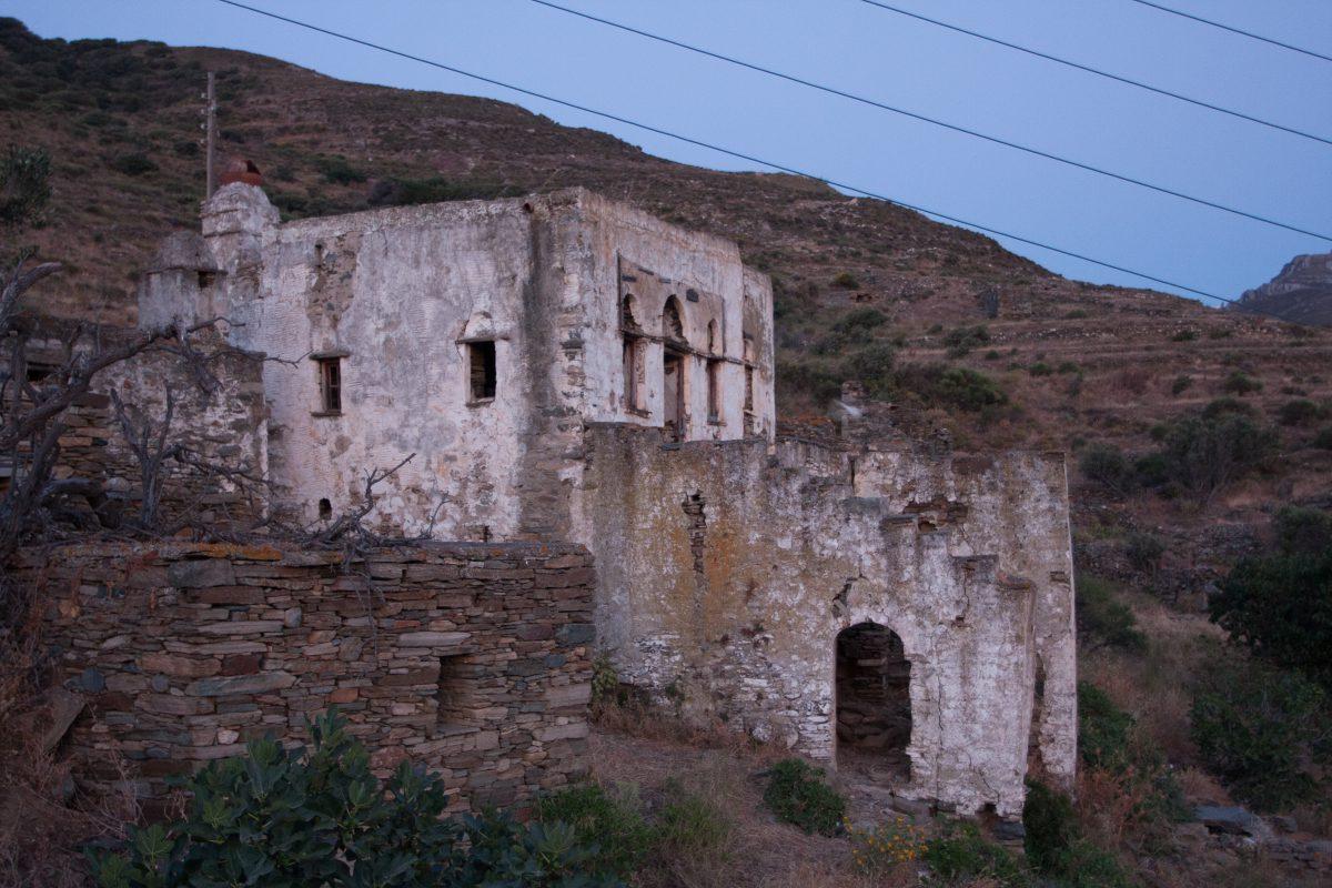 building, village, decay