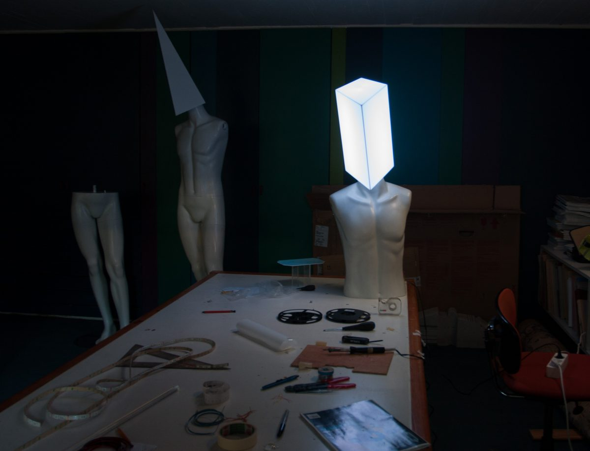 First LED tests, process, mannequin, electronics