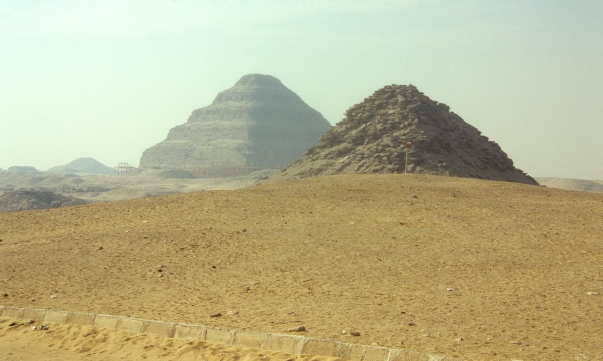 Djoser - The first pyramid, landmark, sand