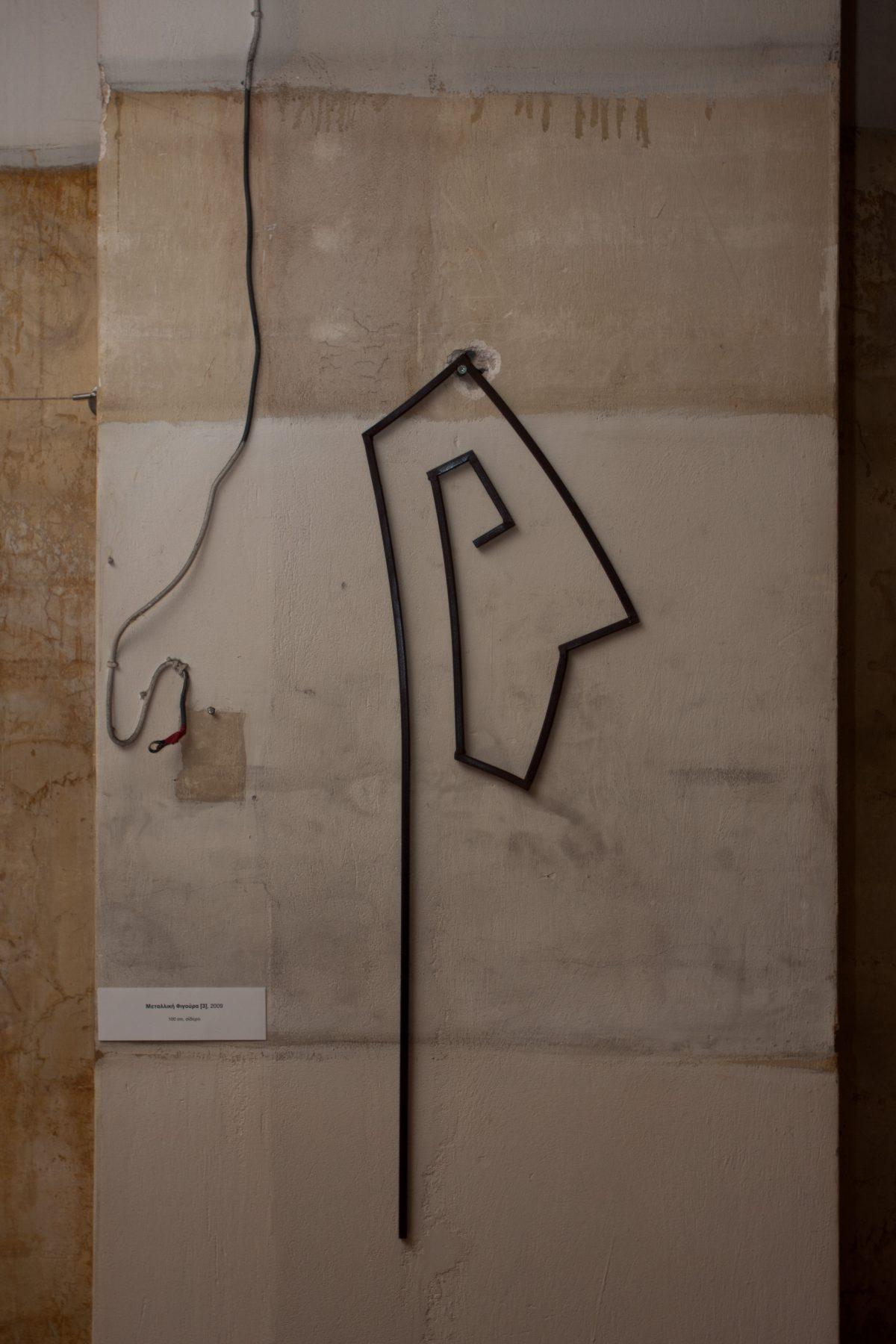 line figure - 100cm steel, exhibition, sculpture, ch3