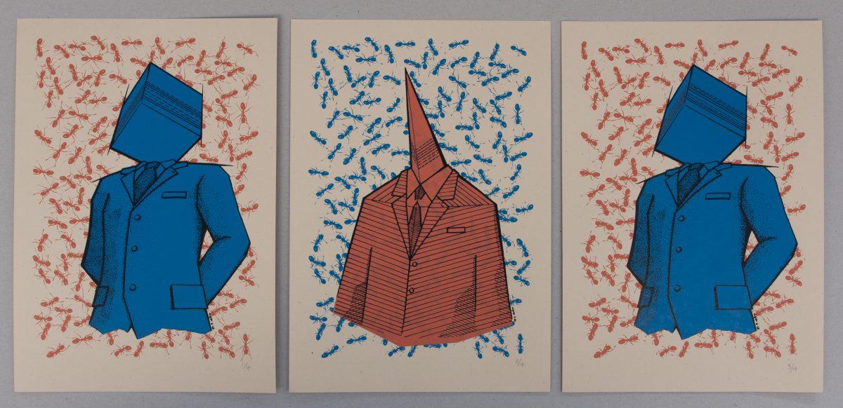 Binary Speech - 23x33cm, series of 14 silkscreen prints | ch3, silkscreen, ch3