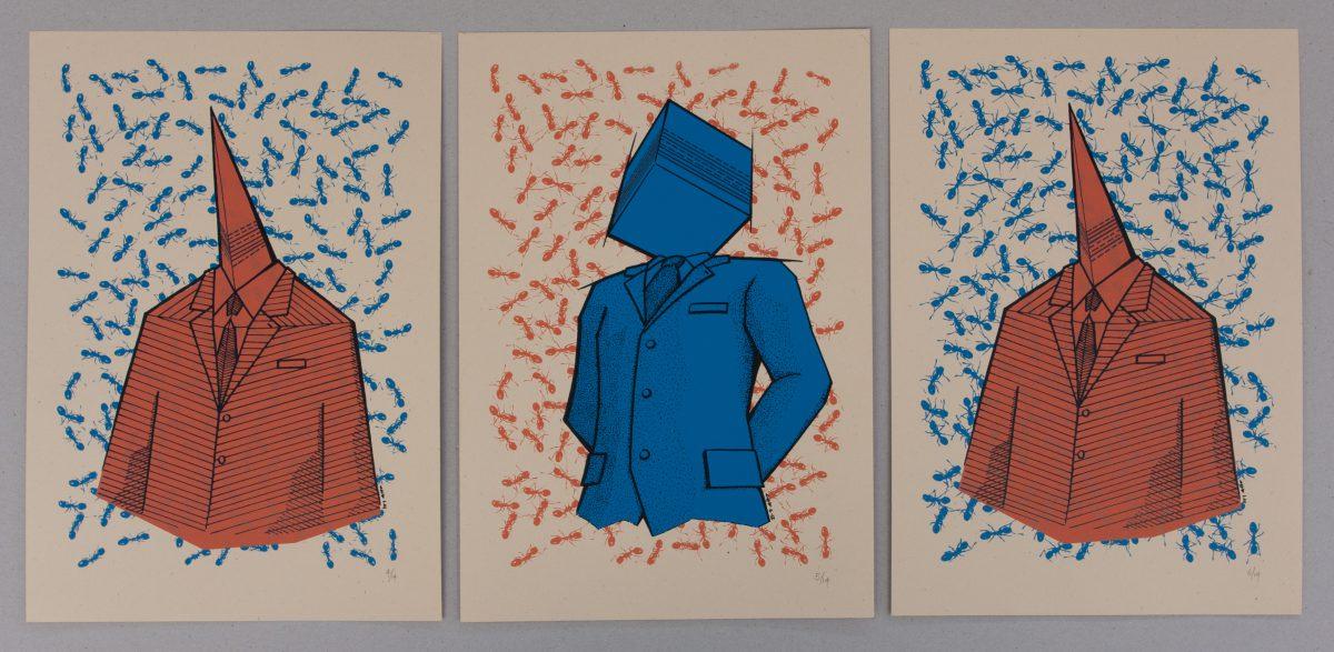 Binary Speech - 23x33cm, series of 14 silkscreen prints | .gr, silkscreen, ch3