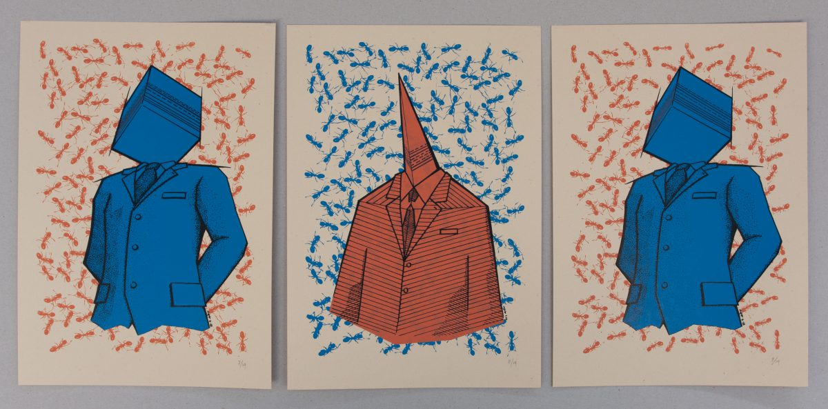 Binary Speech - 23x33cm, series of 14 silkscreen prints | /co, silkscreen, ch3