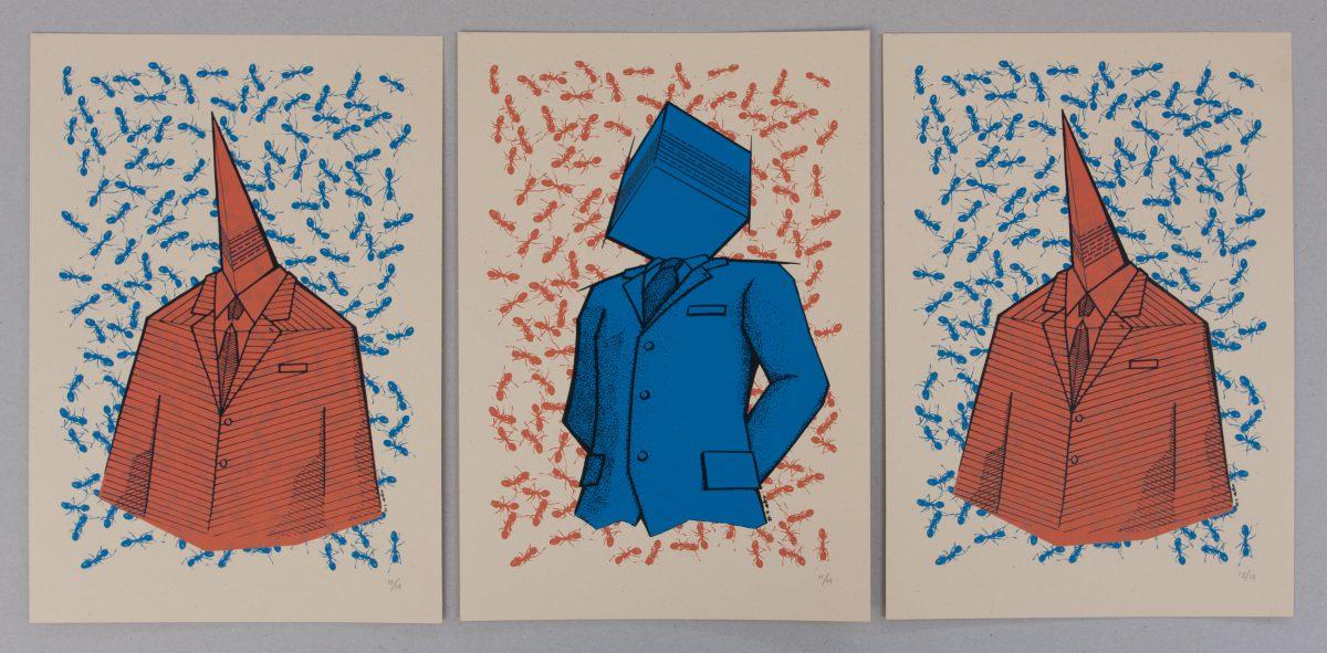 Binary Speech - 23x33cm, series of 14 silkscreen prints | mma, silkscreen, ch3