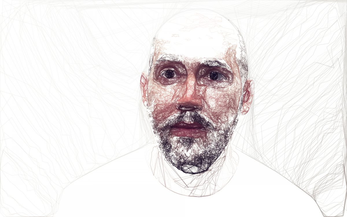 Jason - Digitally created images based on photograph using custom made brushes in Processing., ch3, digital, processing, portrait