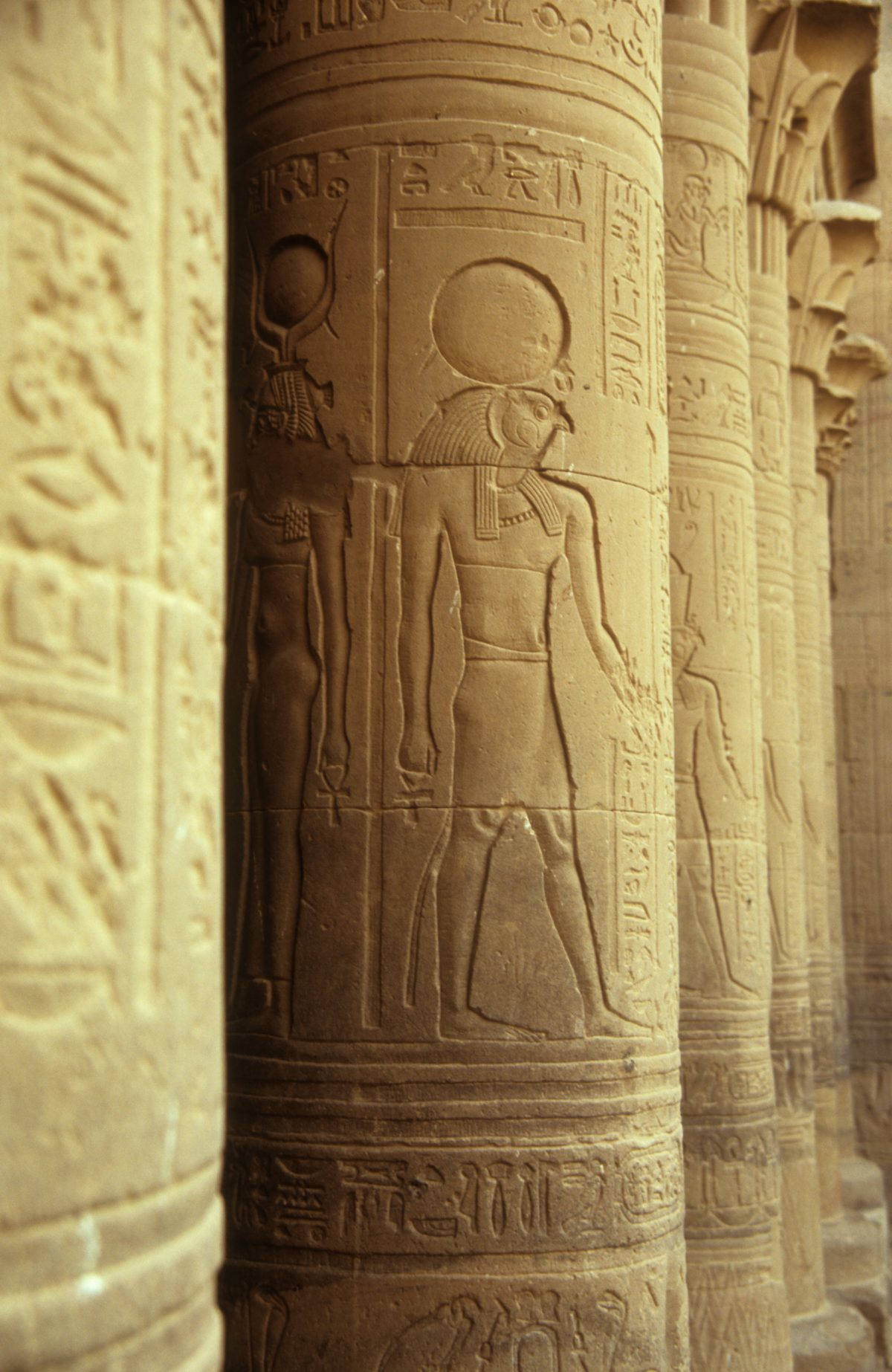 Kom Ombo Temple - Relocated due to the dam construction, detail, landmark