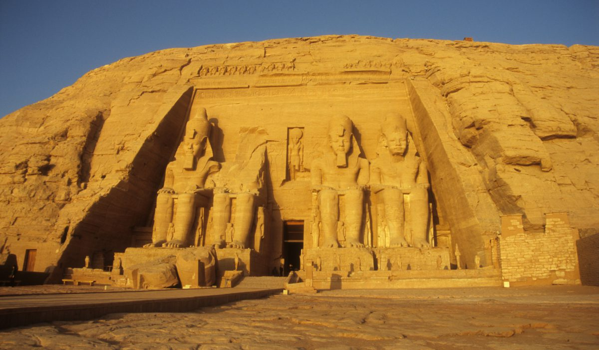 Abu Simbel - The whole hill was relocated, landmark