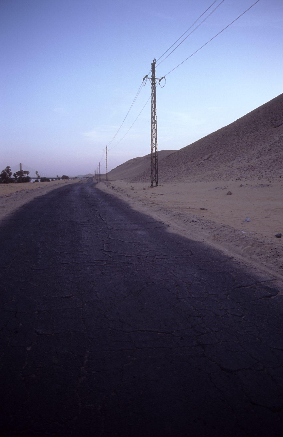 street, desert, sand