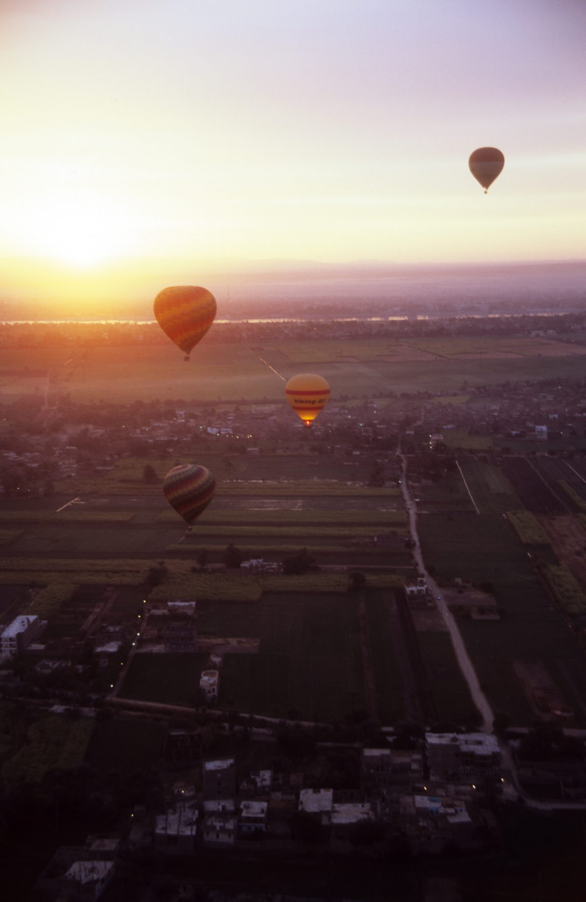 ballon, height, view, sunrise