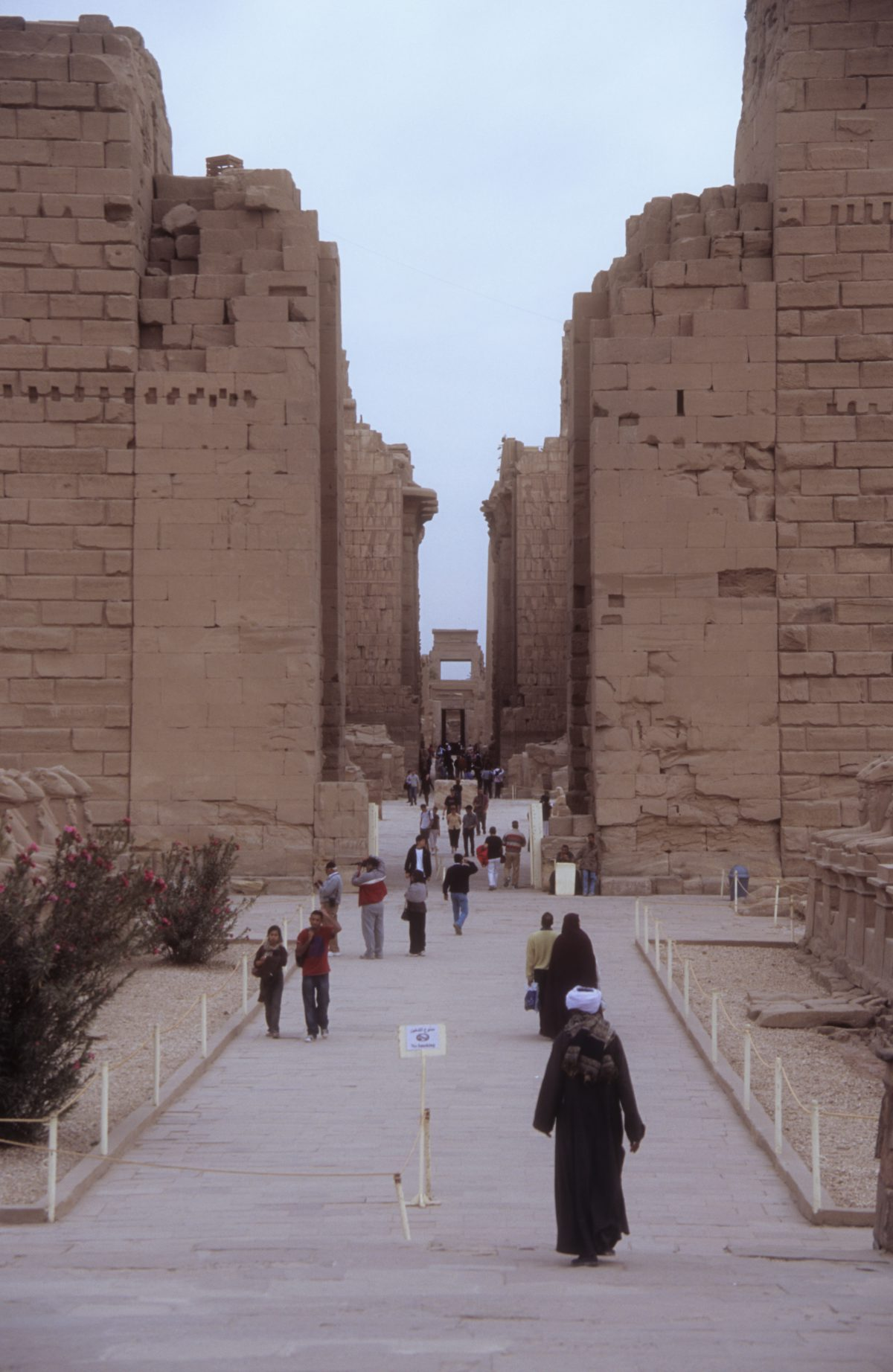 Luxor Temple - A large Egyptian Temple complex., landmark, alley, people, walk