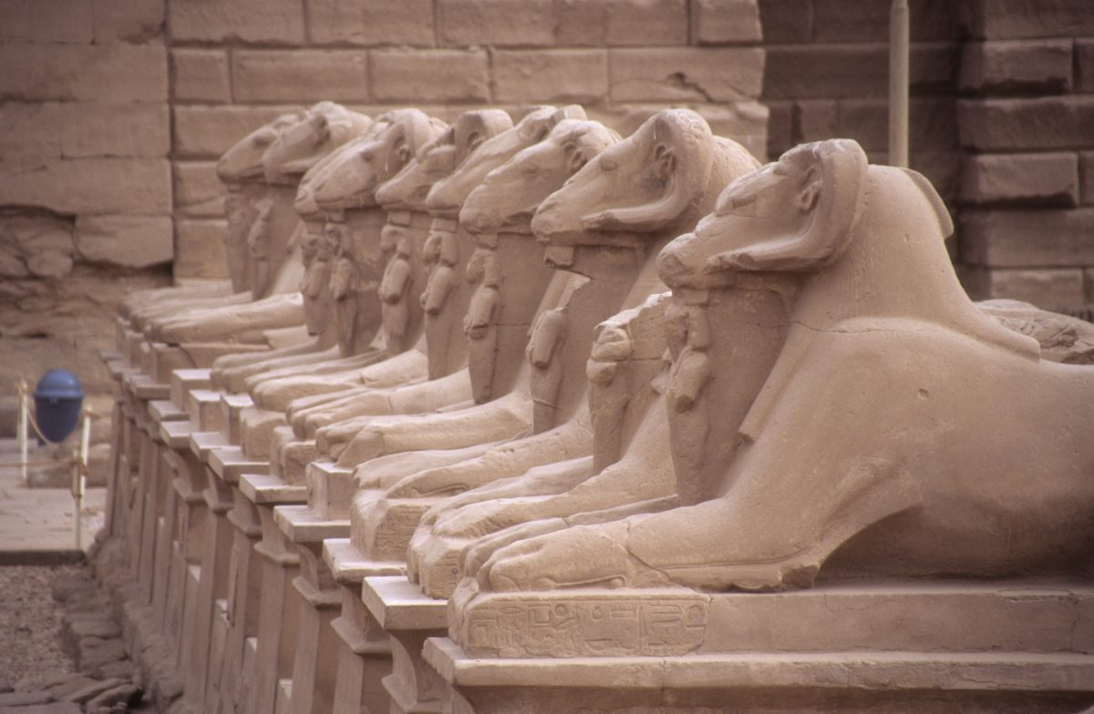 Luxor Temple - A large Egyptian Temple complex., landmark, pattern