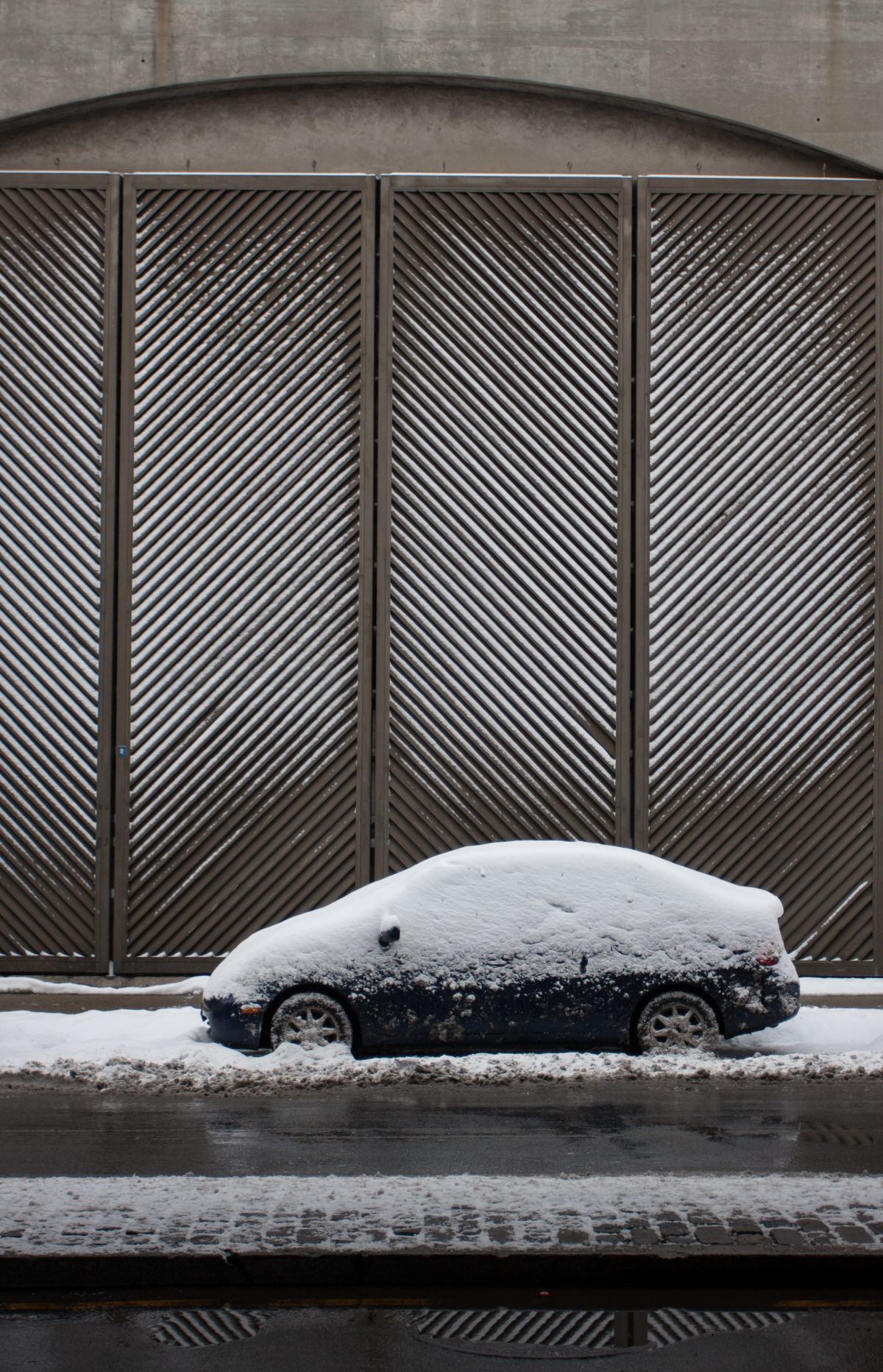 Juno Storm, snow, vehicle, door