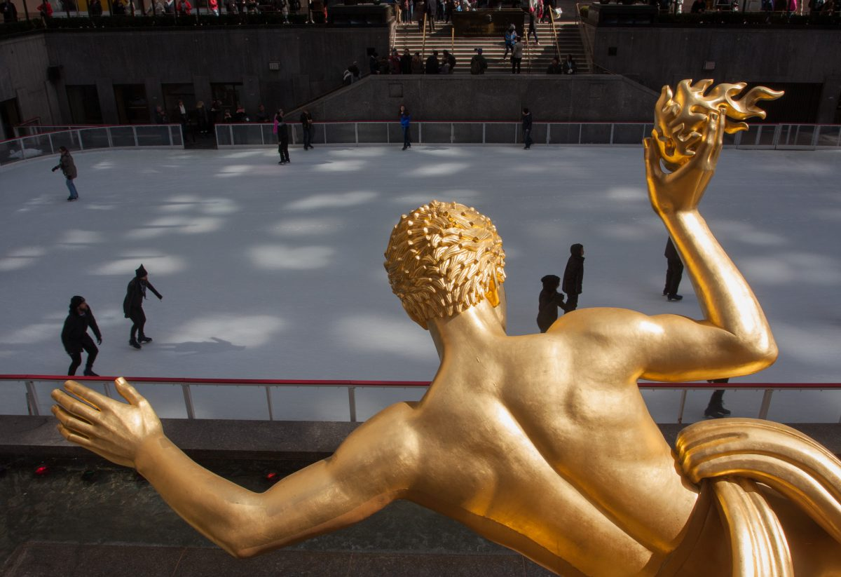 Rockefeller Center, sculpture, ice