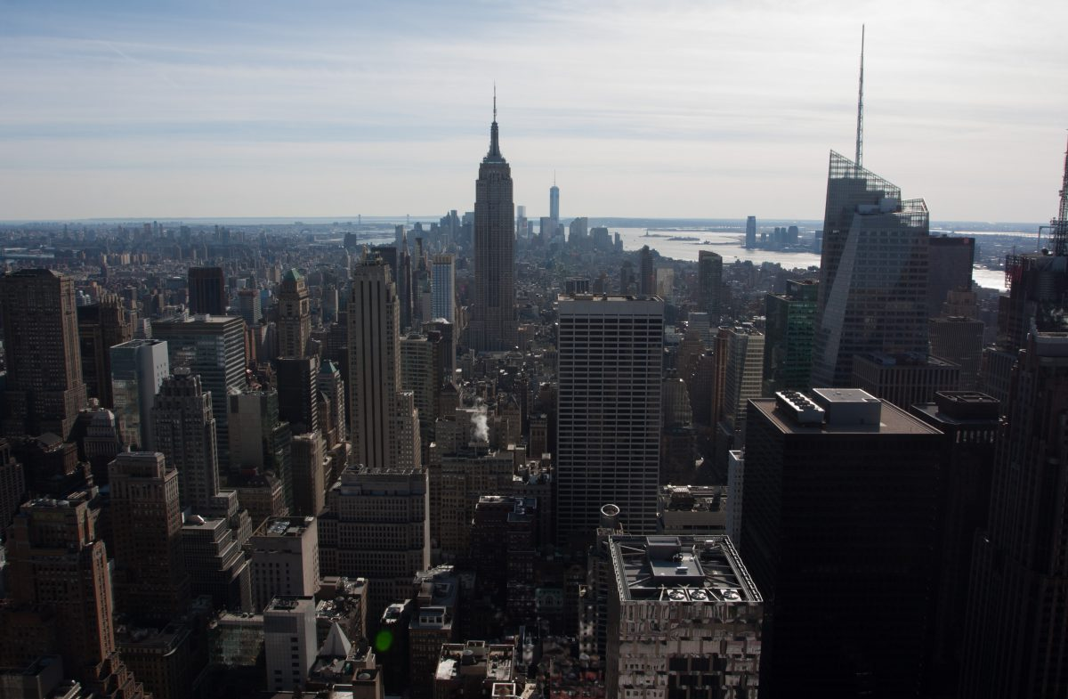 Top of the Rock, building, view, skyline