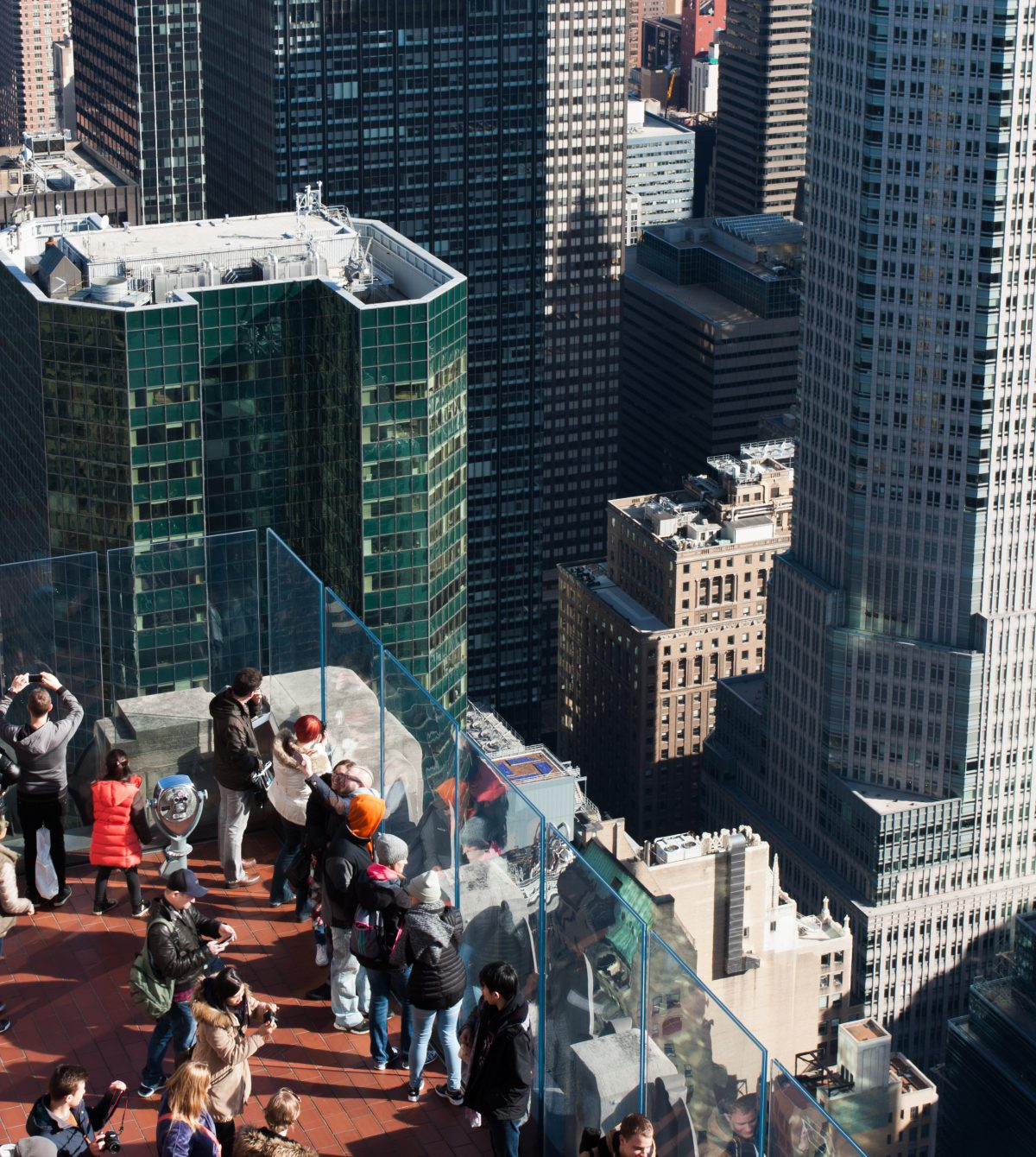 Top of the Rock, building, view, roof