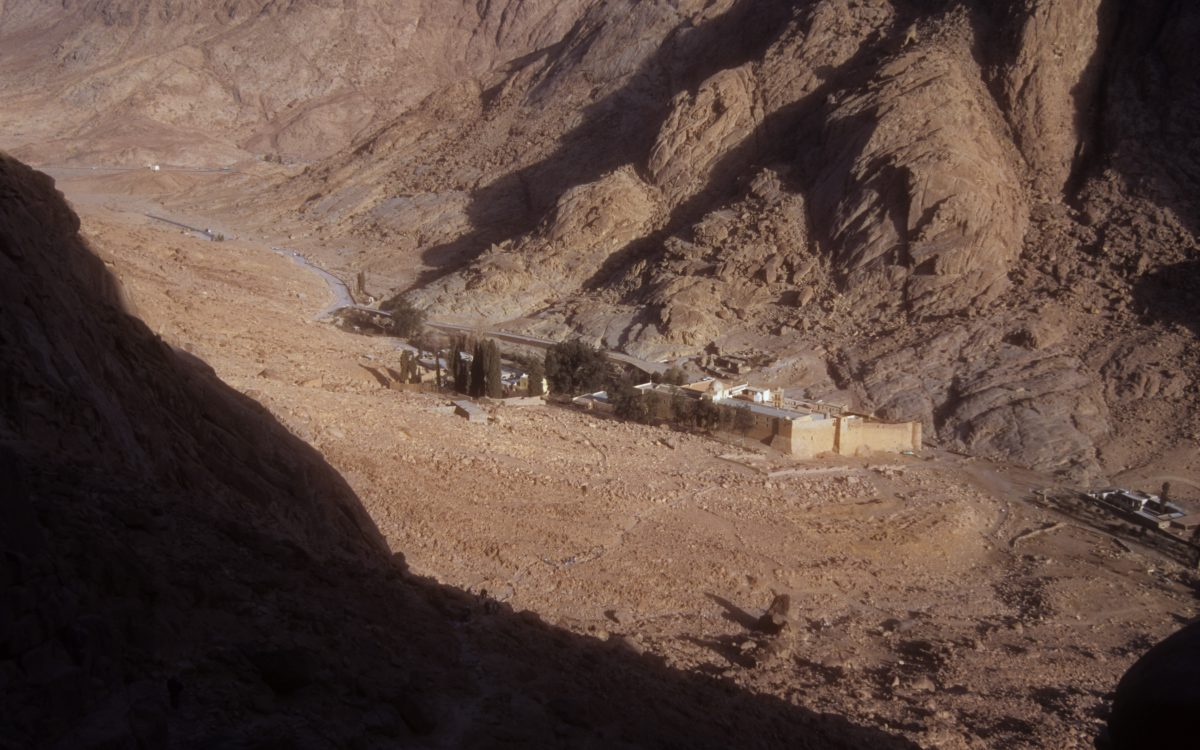 St Catherine Monastery, mountain, view, height, church