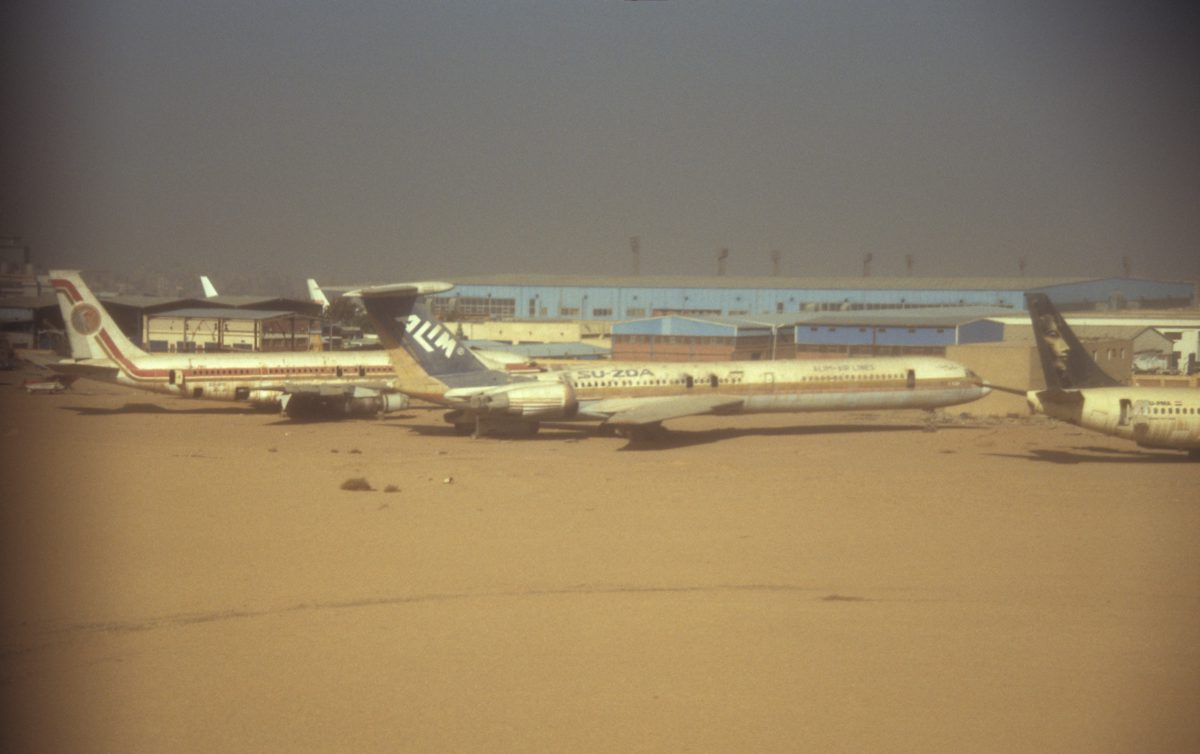 Cairo, airport, plane, decay, sand, flight