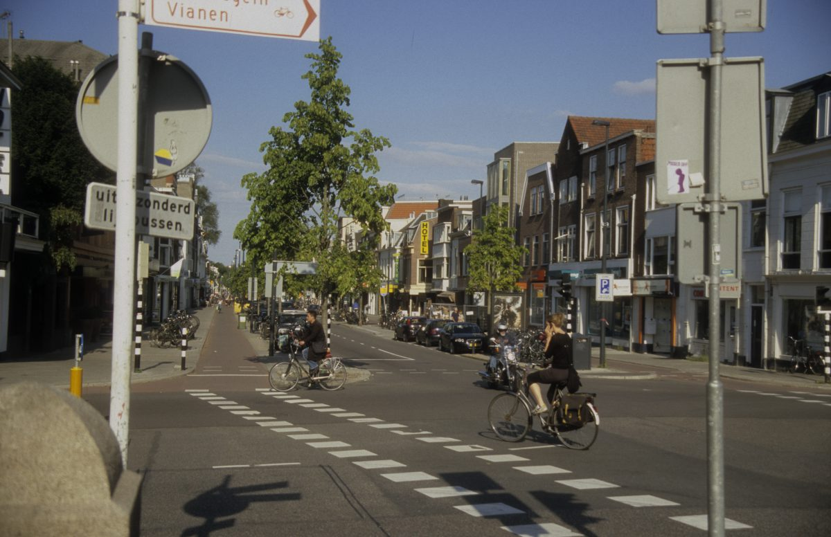 City planning - A great example of human oriented design, people, bike, walk