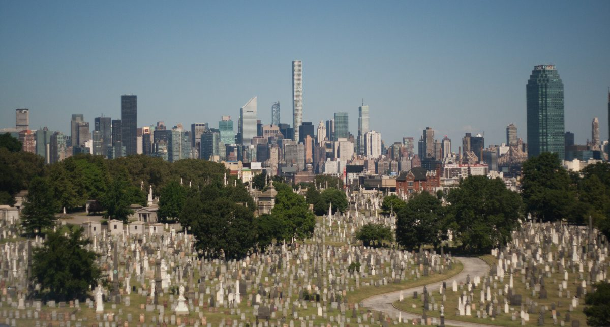 New York City, city, view, cemetery