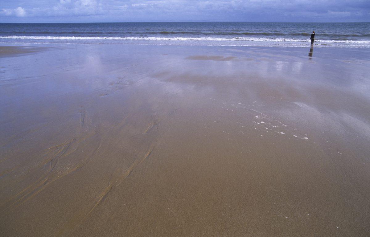 sea, female, sand