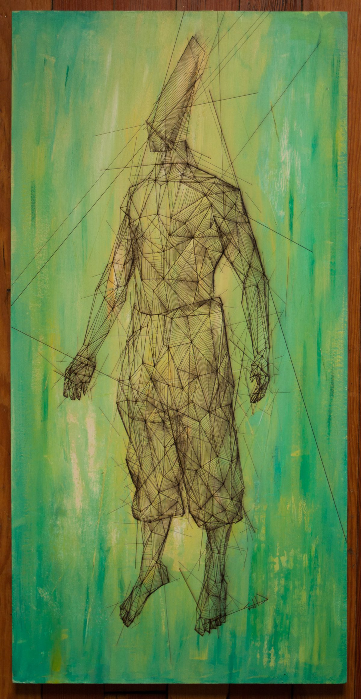 Warrior - 30x60cm laser cut, wooden panel, acrylics, laser, digital, acrylic, wood, ch3