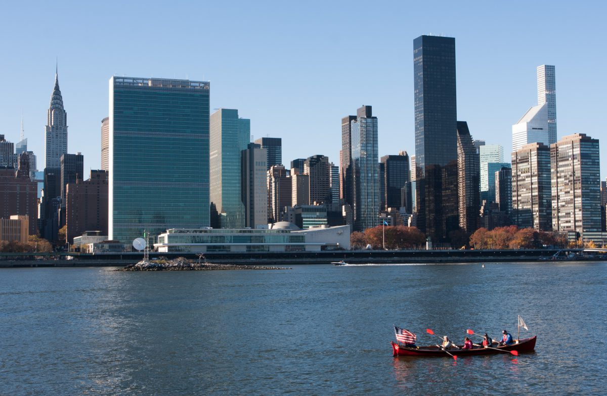Long Island City, building, city, water, boat